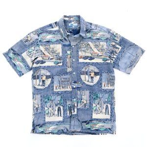 AFTCO BLUE WATER Men's Fishing Graphic Shirt M